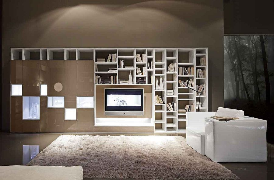 Add a captivating, functional wall unit to your living room