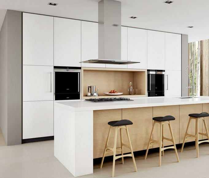 Coffee pot in a contemporary kitchen