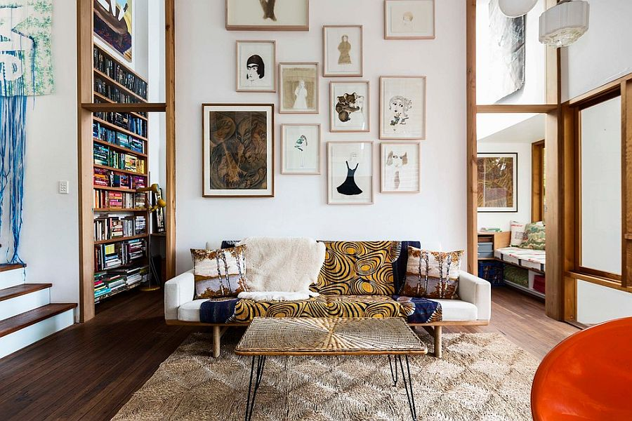 Create the perfect accent wall with curated artwork [Design: David Boyle Architect]
