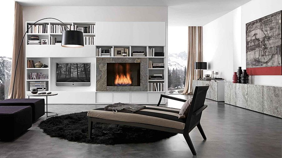 Dynamic bookcase unit can be used in a variety of compositions