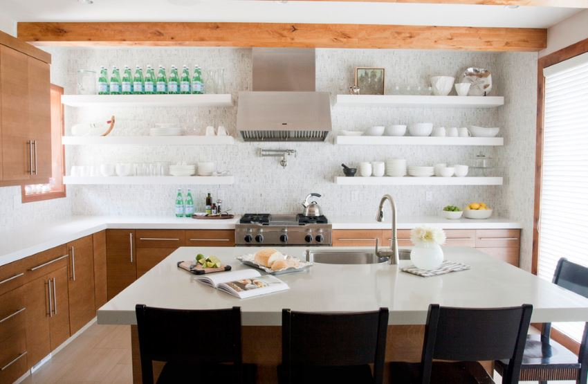 Foodie kitchen filled with culinary accents