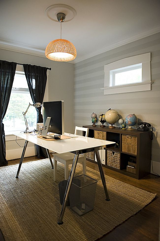 Globes bring a touch of antique charm to the home office [From: The Locker]