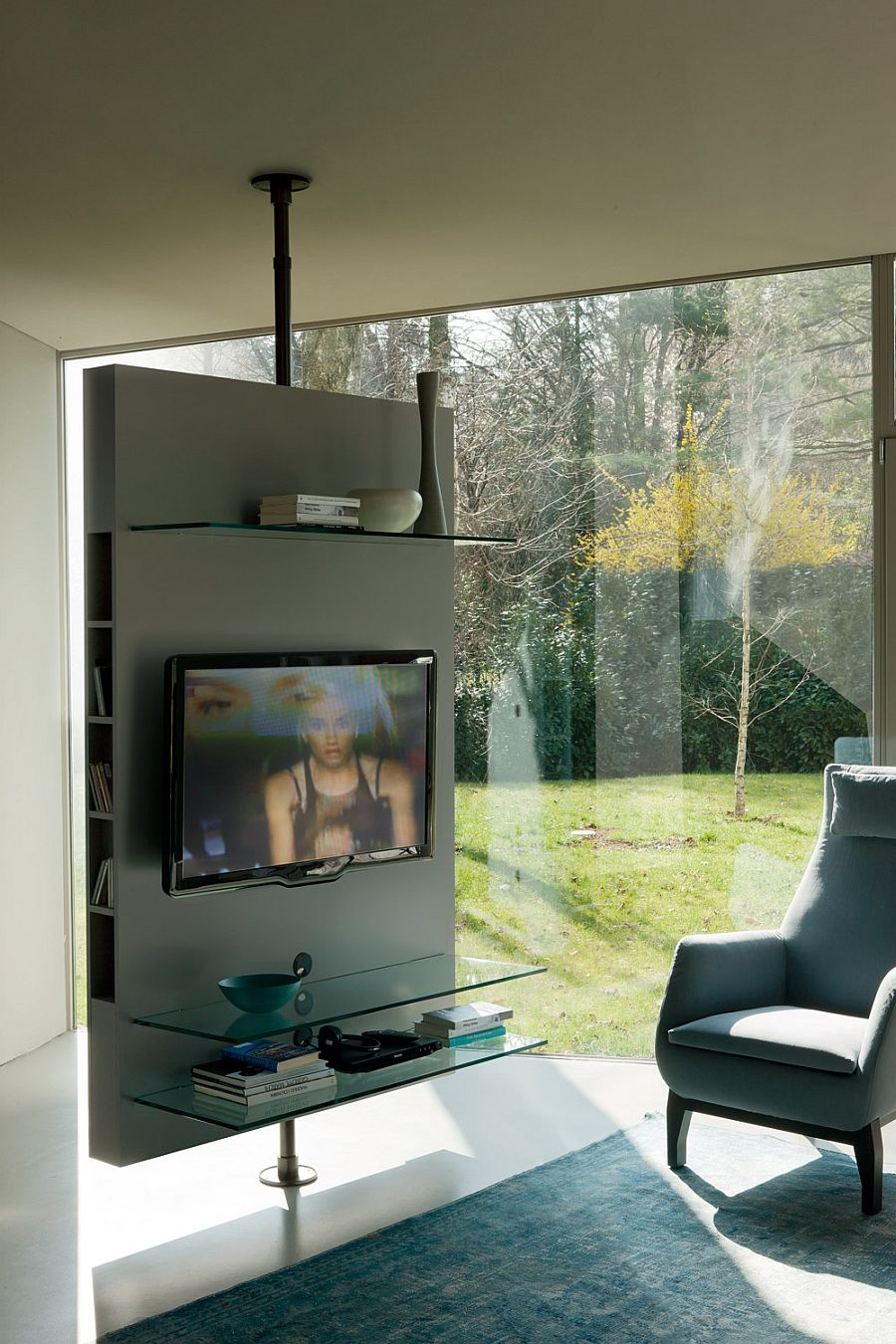 Gorgeous revloving TV Stand is perfect for contemporary homes