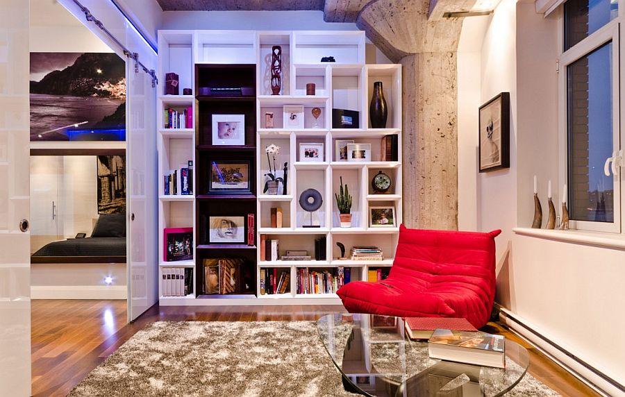 Lovely bookshelf in white doubles as an elegant display