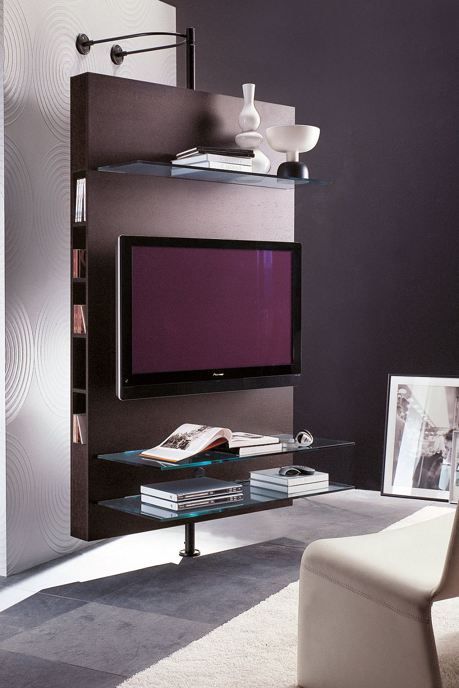 Perfect, stylish media center for the modern living room