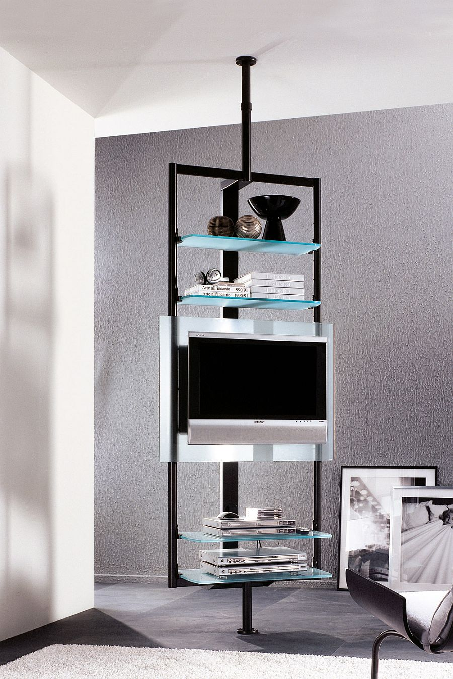 Sleek silhouette of the TV Stand ensures it takes little space