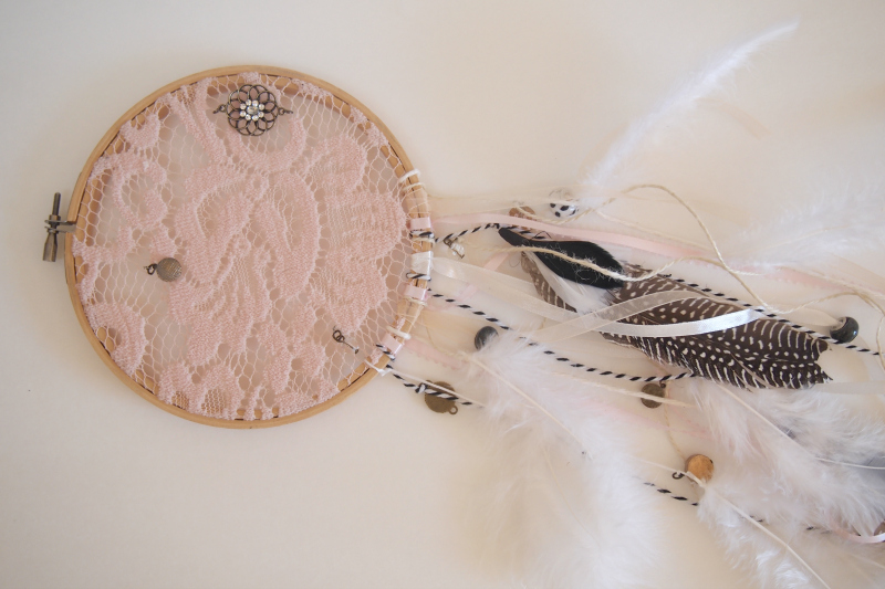 Crafting a beautiful dreamcatcher at home