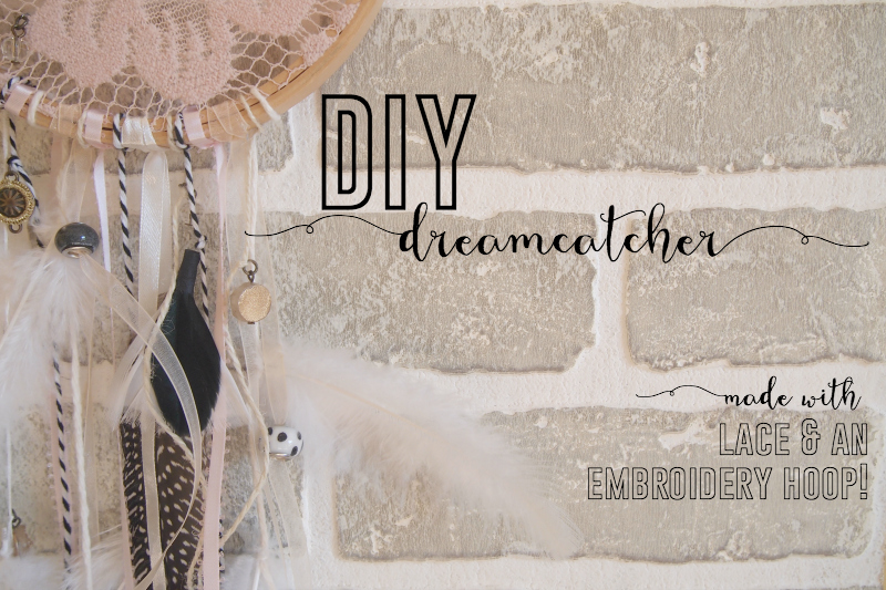 DIY dreamcatcher made with lovely lace