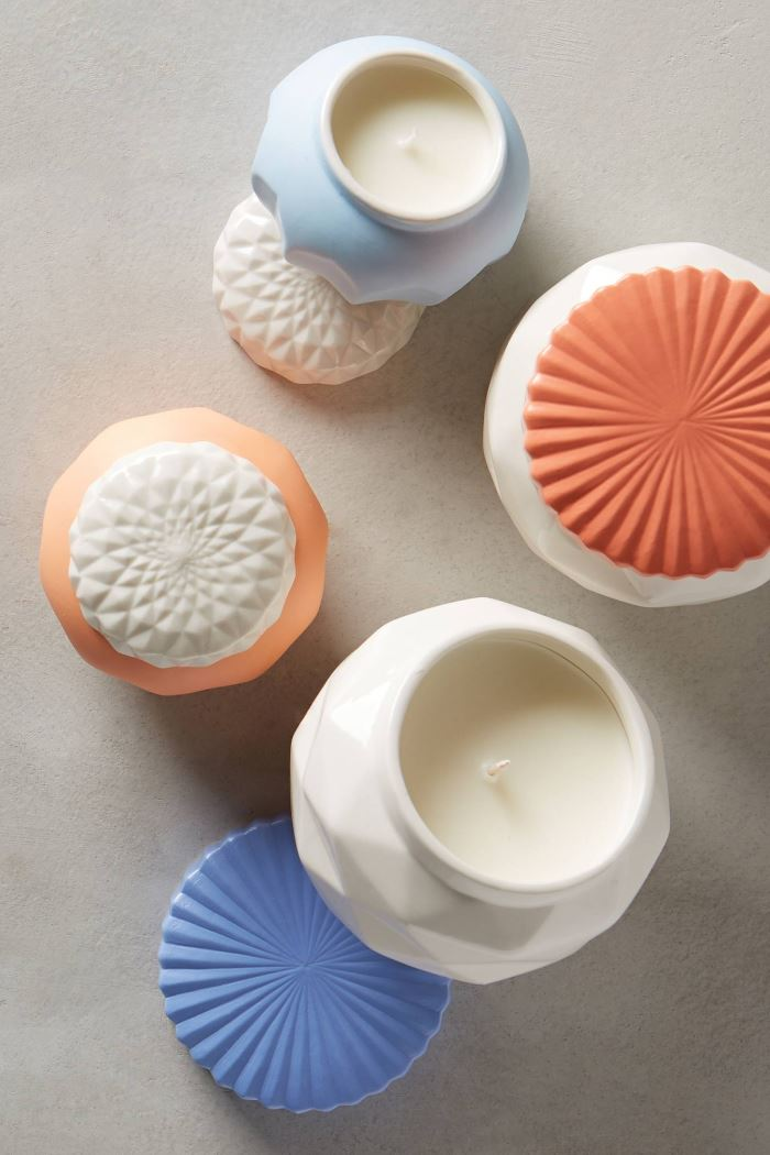 Faceted candles from Anthropologie