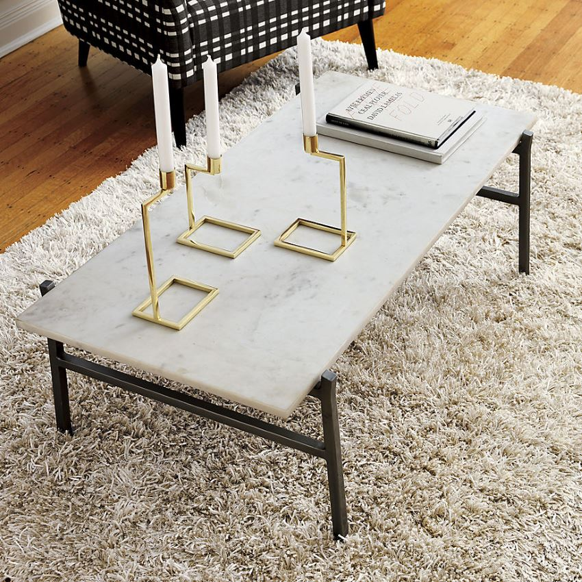 Marble coffee table from CB2