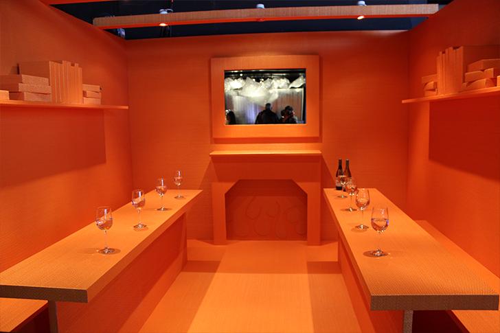 Minimalist Orange Table Design