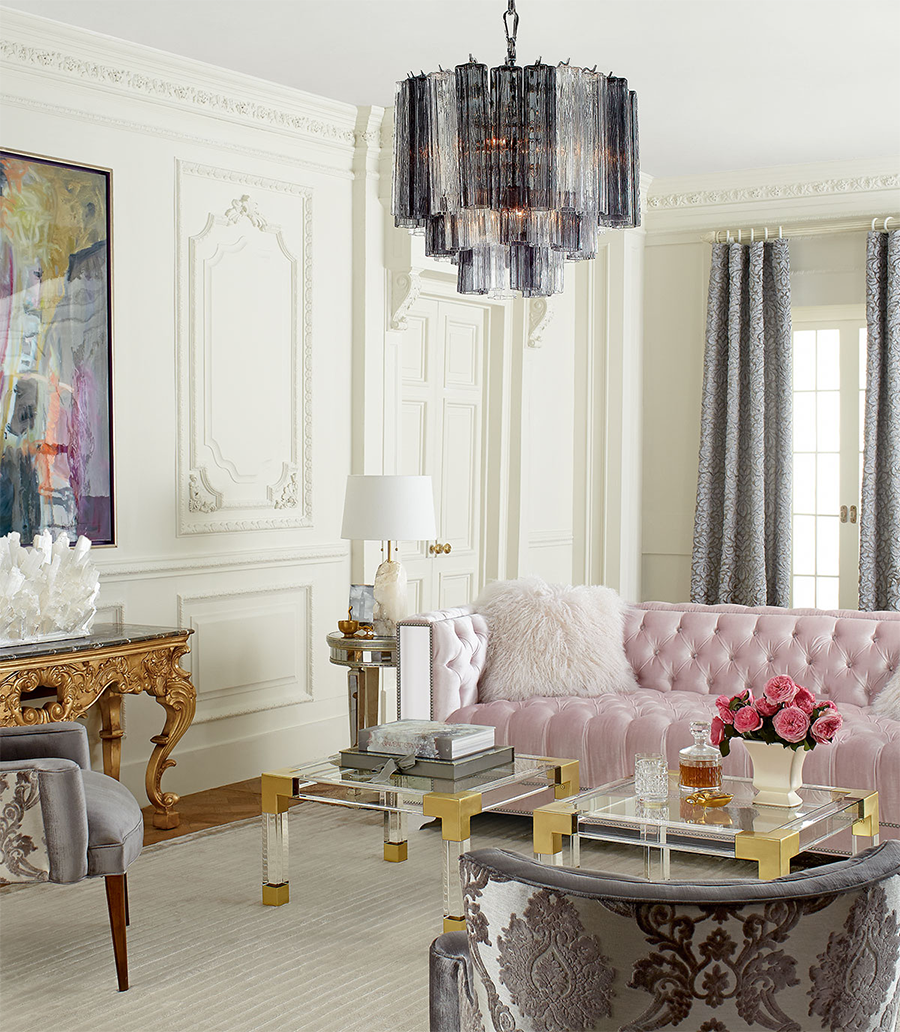 Plush Pastel Furniture in Posh Room