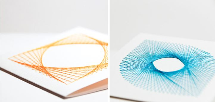 Spirograph-style embroidery