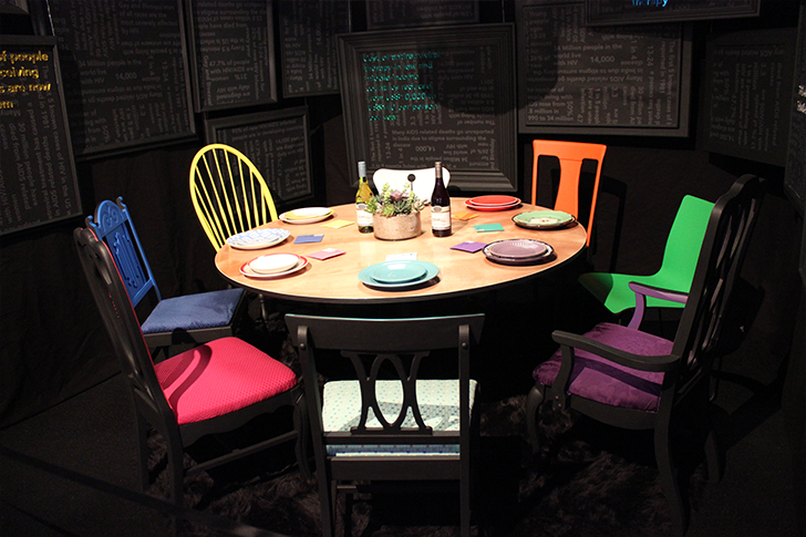 Table and Colorful Chairs