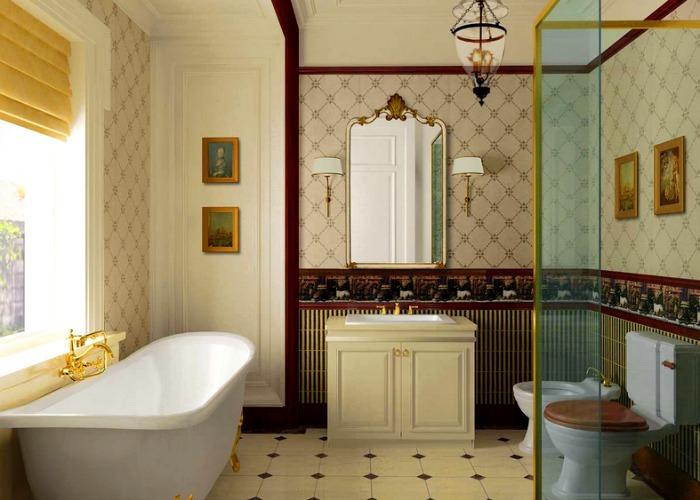 Traditional Bathroom combines aesthetics with functionality
