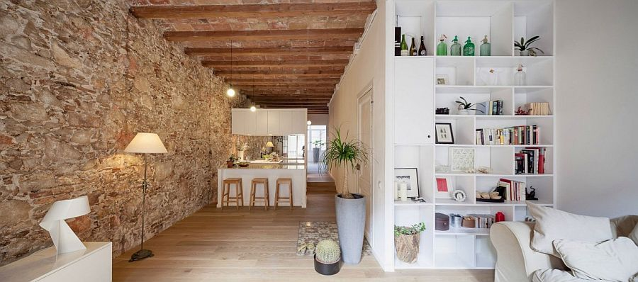 Old apartment in Barcelona gets a contemporary update in white