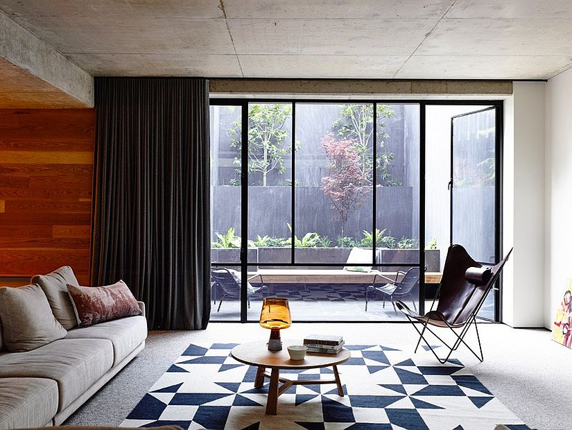 Private courtyards bring in ample natural light