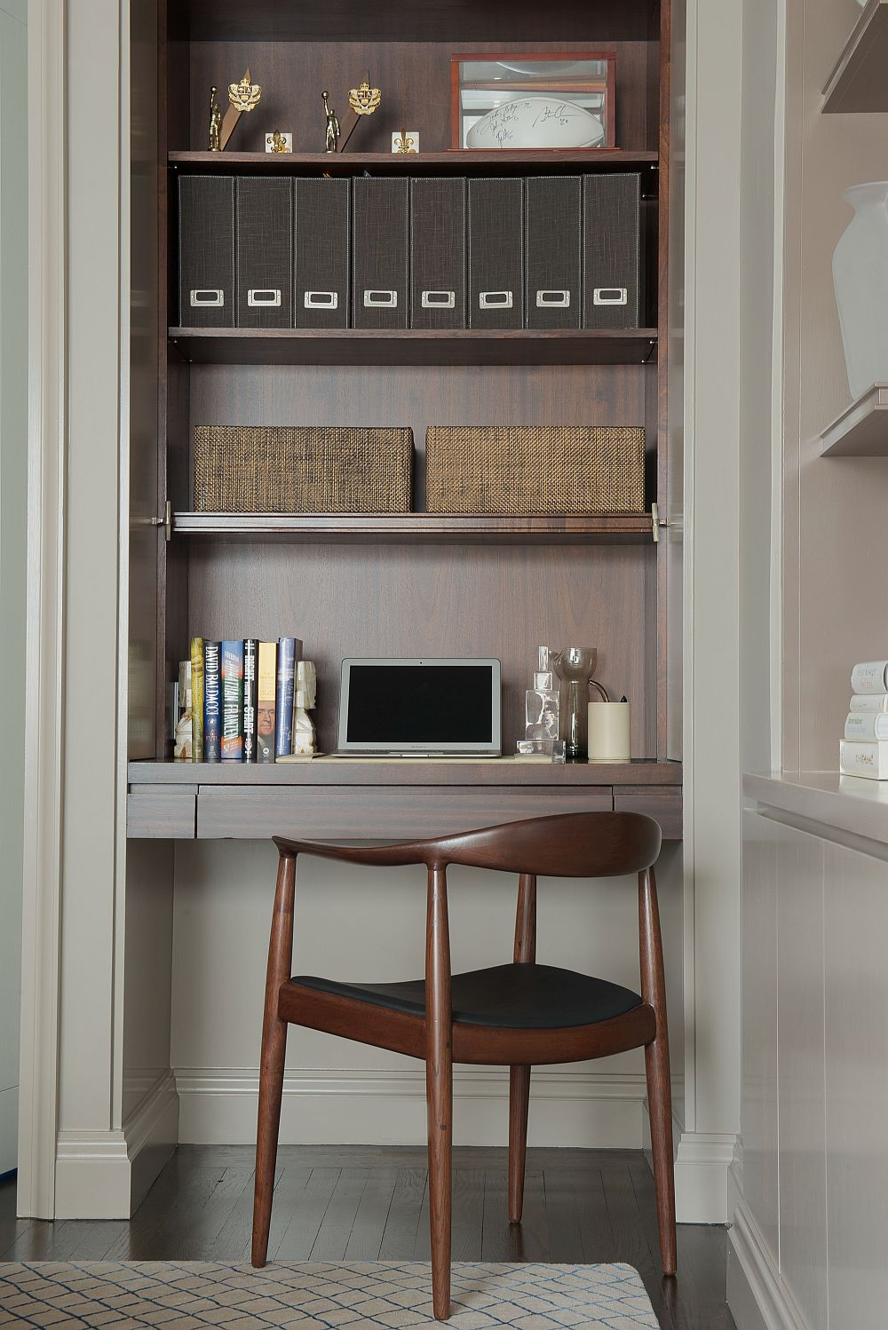 Small home workstation inside the stylish home