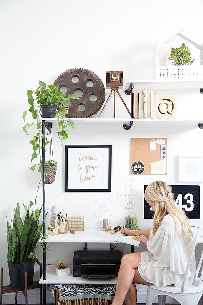Add some greenery to your home office