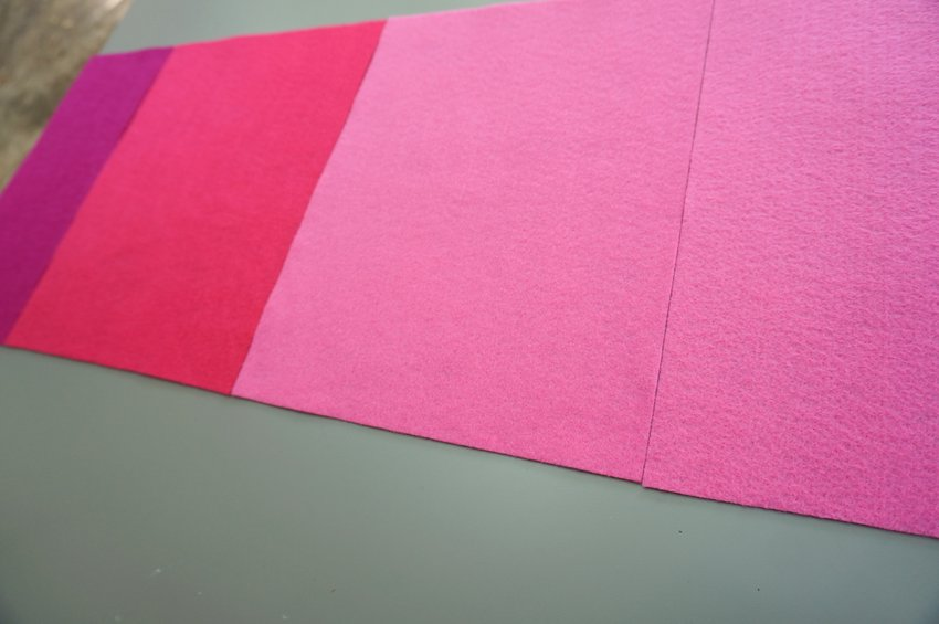 Add two more felt sheets to the table