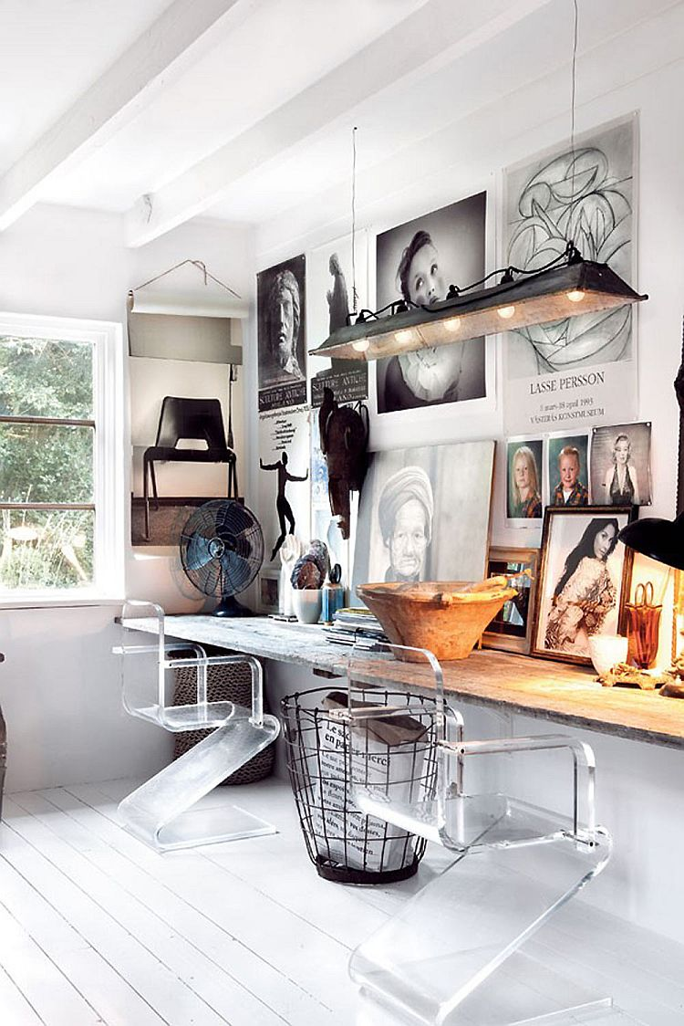 Captivating home office design with Nordic and rustic styles