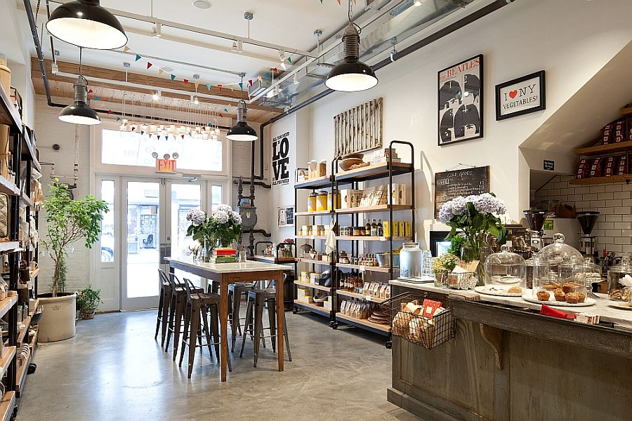 Adopt the loft-inspired cafe style for your kitchen