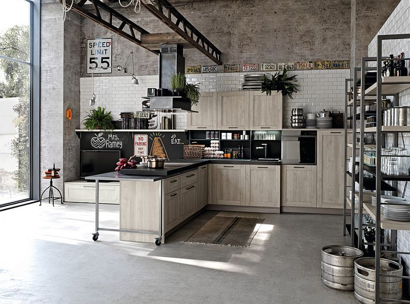 Loft-styled home with a large kitchen that complements its aura
