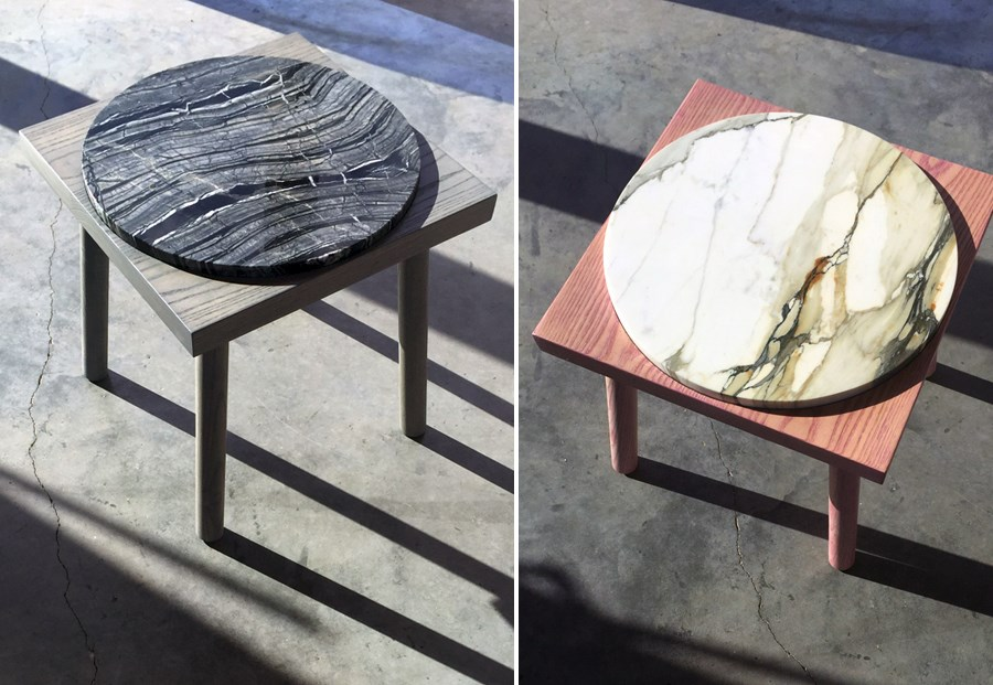 Marble tables from Alyson Fox