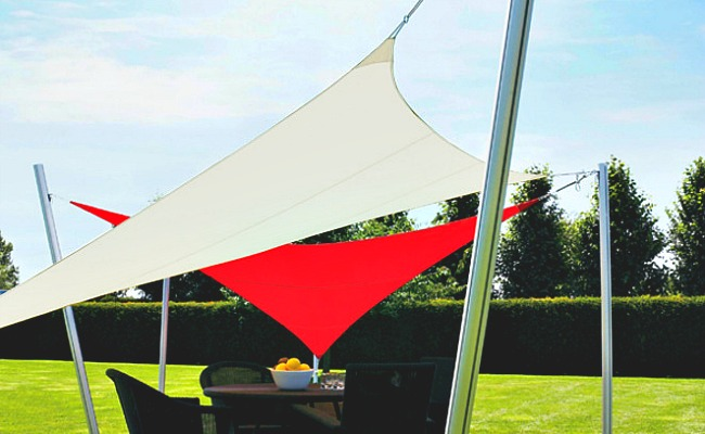 Sails turned into outdoor shade