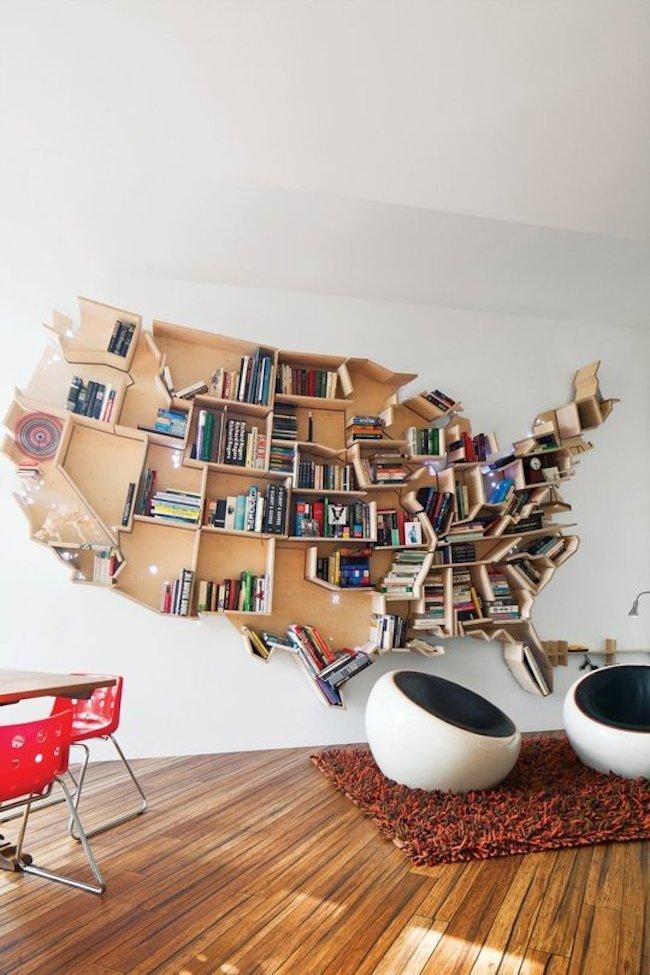 bookshelf america shape