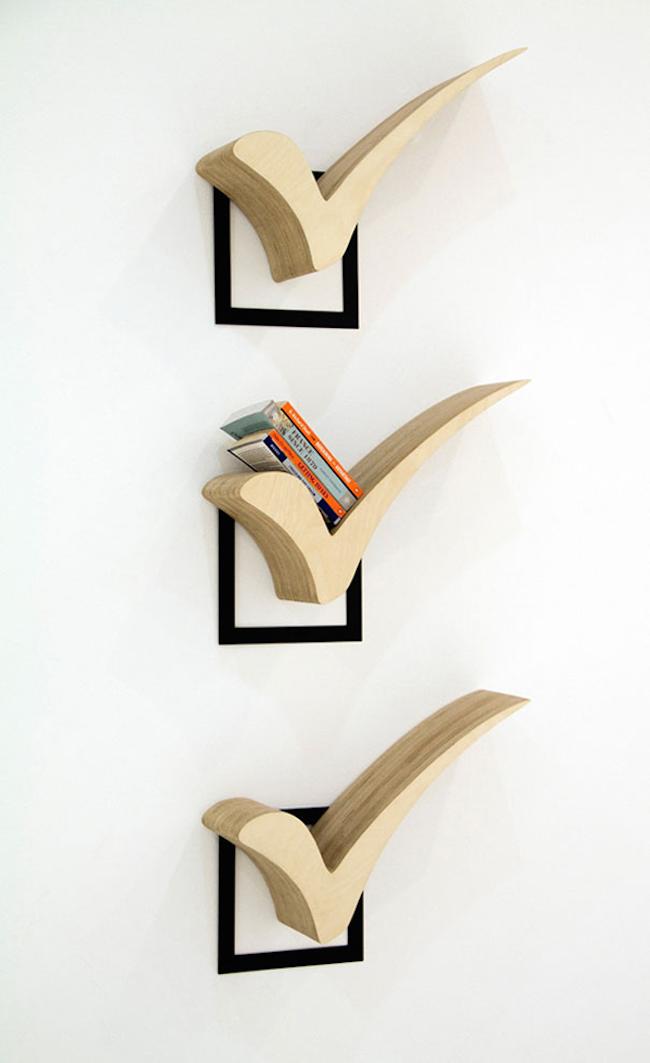 bookshelves checkmarks