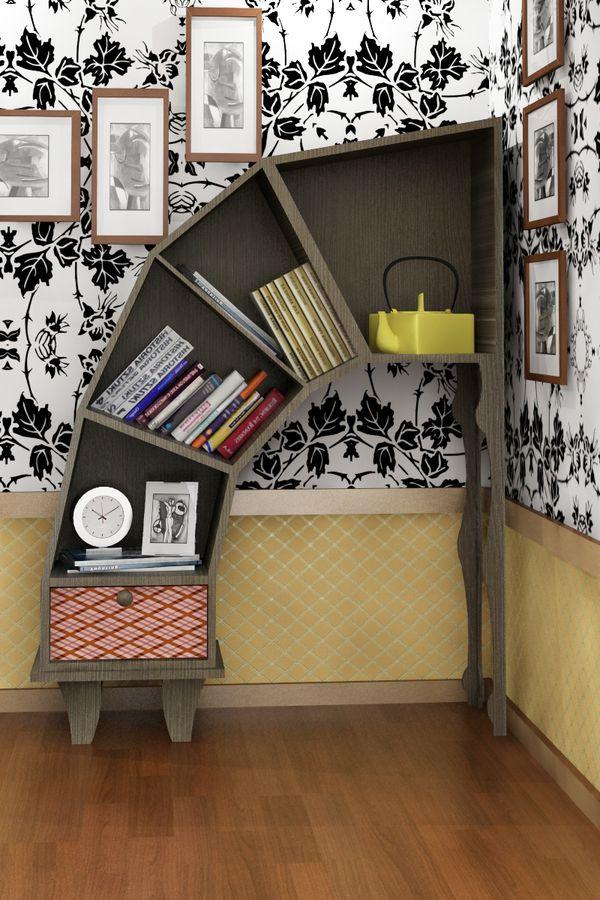 bookshelves half circle