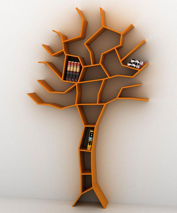 bookshelves tree branches