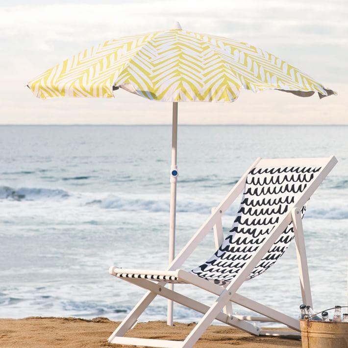 Beach umbrella from West Elm
