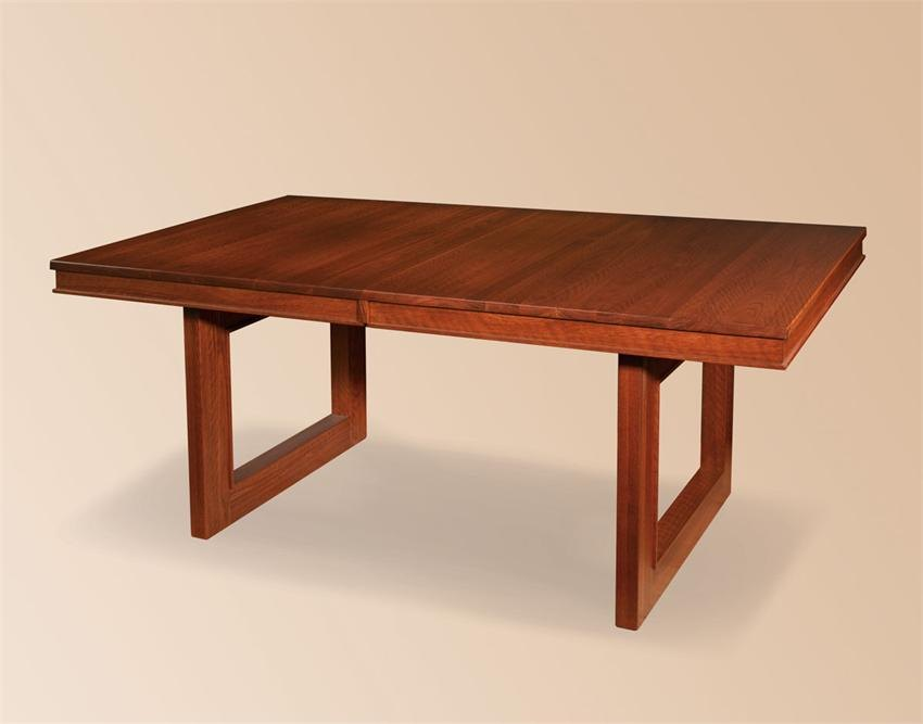 Contemporary wooden trestle table