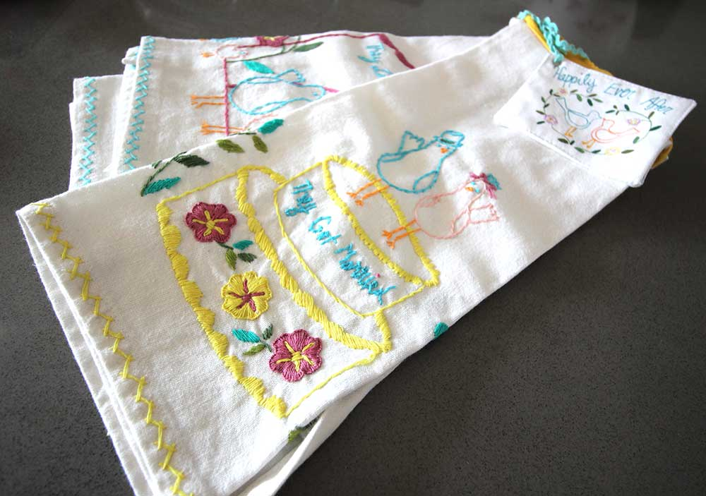 DIY Placemats with Whimsical Embroidery