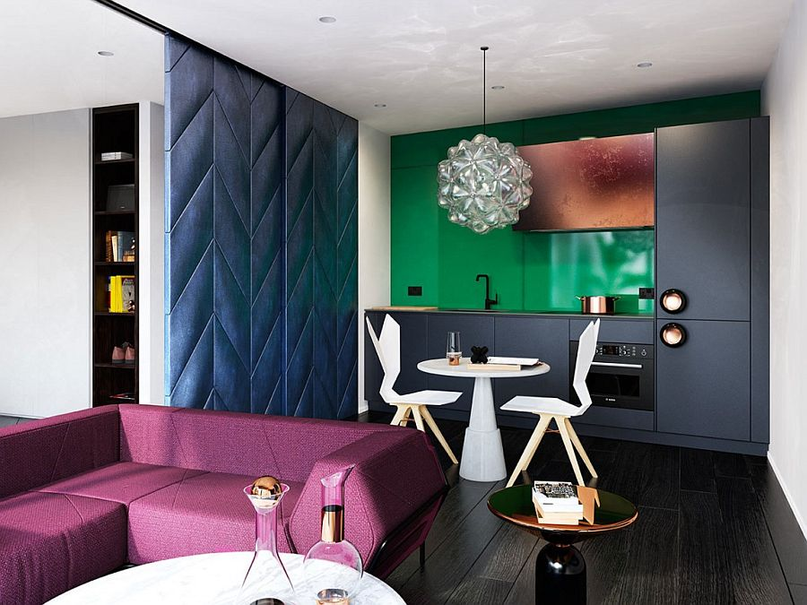 Dynamic interiors of the London home with color and creativity