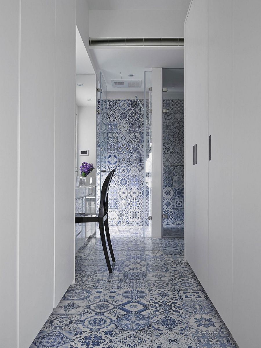 Interesting use of tile to bring pattern to the modern home