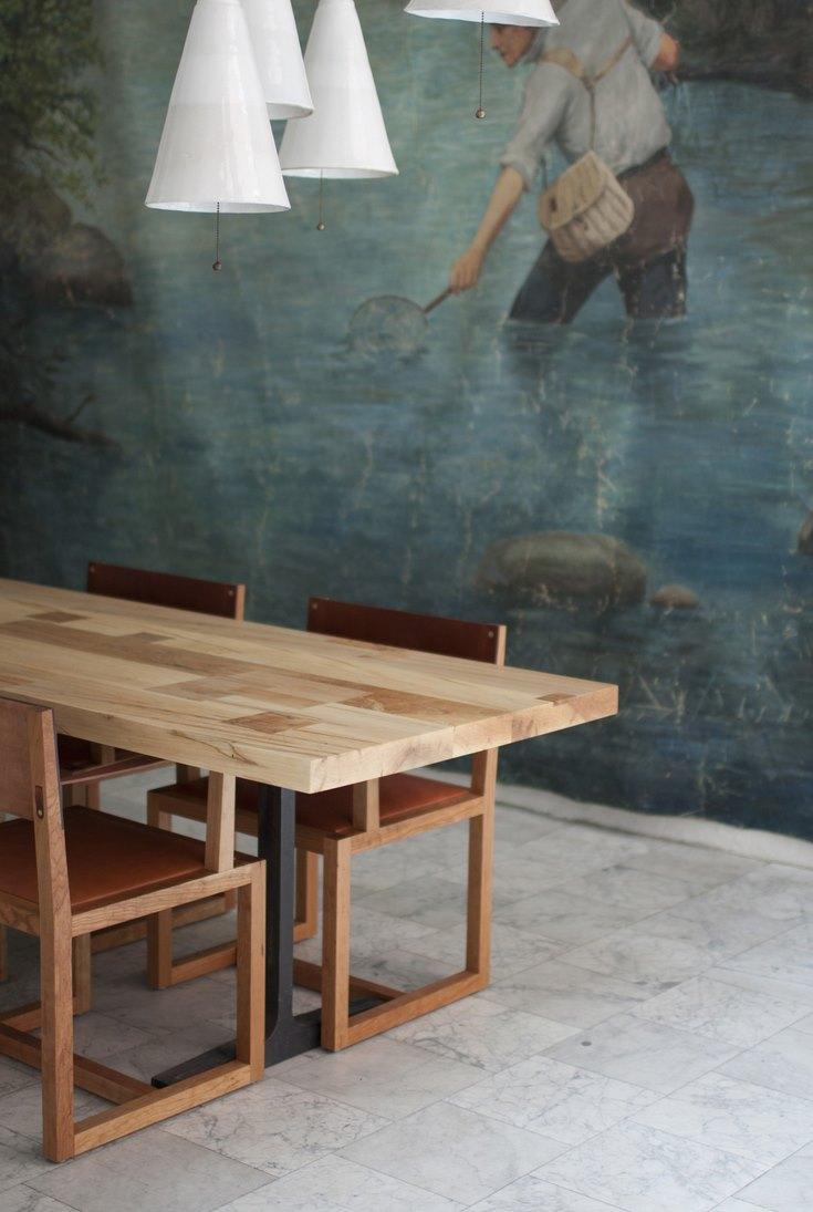 Modern trestle table from BDDW
