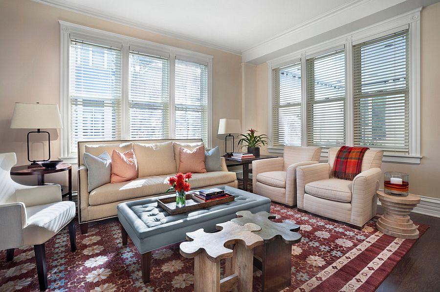 Ottoman coffee table is both stylish and ergonomic [Design: Tom Stringer Design Partners]