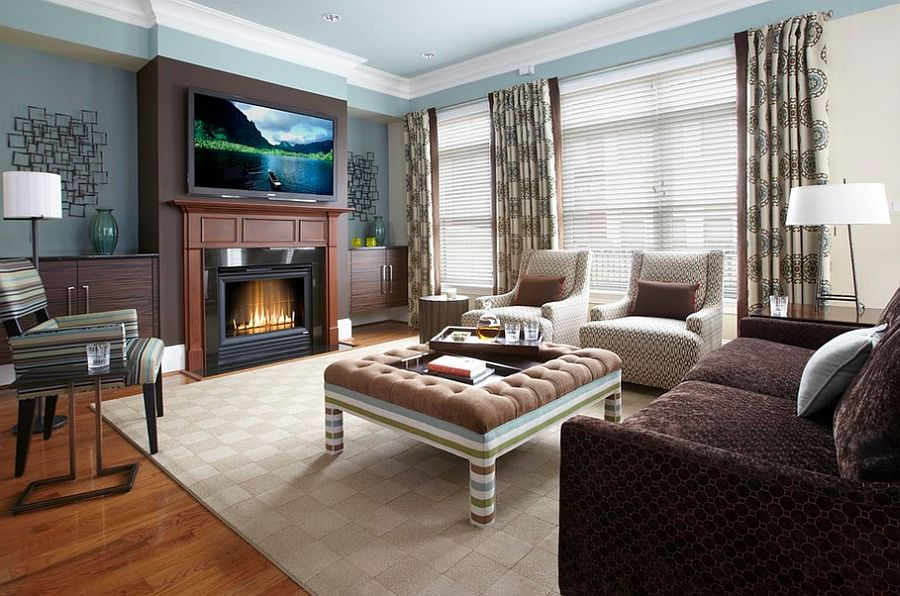 Playful upholstered coffee table [Design: Sroka Design]