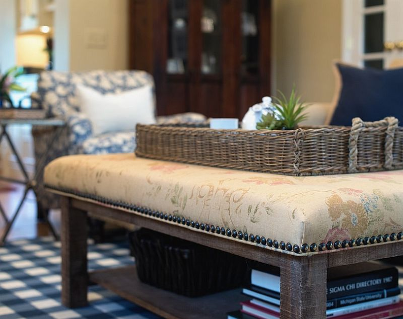 Upholster your old coffee table to give it a new lease of life [Design: reDesign home]