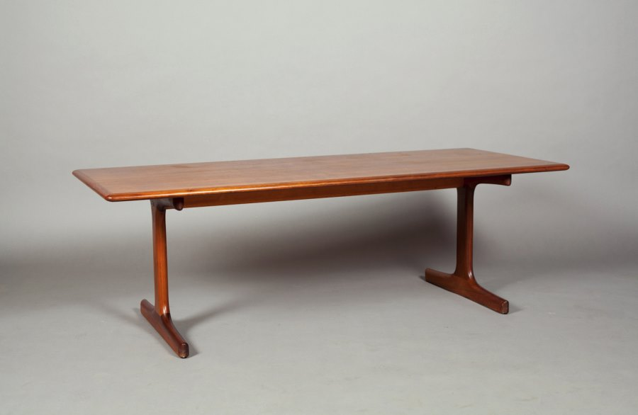 Vintage wooden trestle table from Atomic Threshold