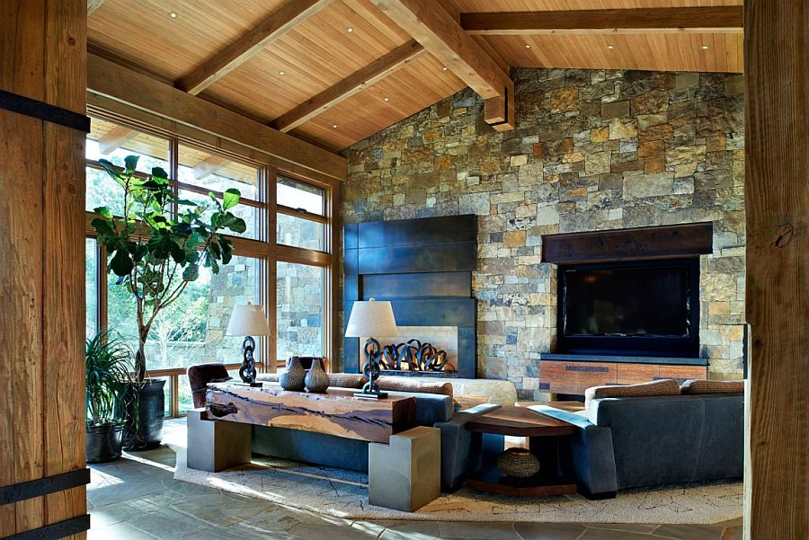Cabin style meets modern comfort inside the lavish Colorado home
