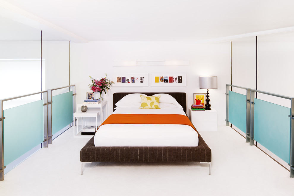 Color, style and finish unite these bedside tables