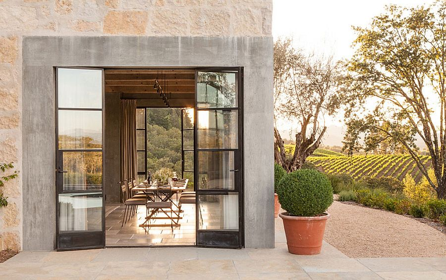Gorgeous Healdsburg Ranch dining room in Sonoma County by JUTE