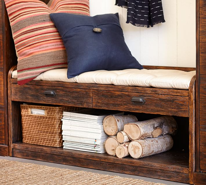 Orinda bench with small drawers and extra storage space