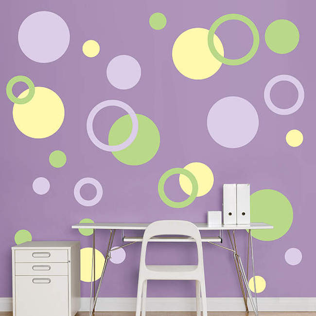 Polka dot wall decals in more colors
