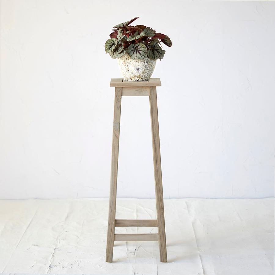 Teak plant stand from Terrain