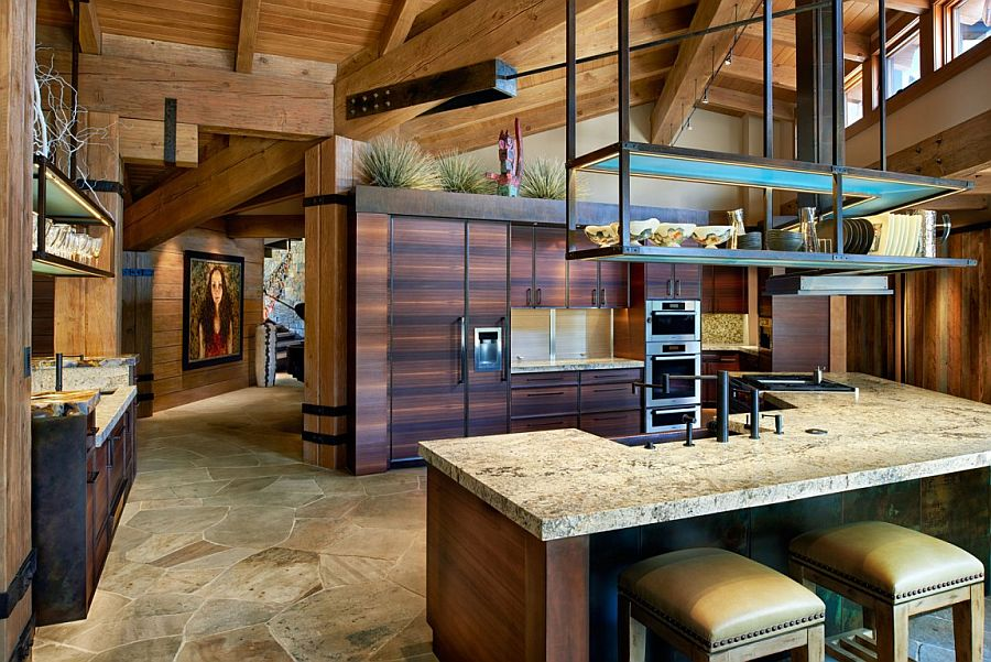 Traditional kitchen with modern storage and cabinets